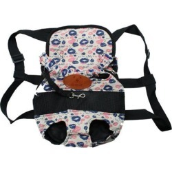 Pet Dog Carrier Adjustable Front Chest Backpack Pet Cat Puppy Tote Holder Bag Straps for Travel Outdoor S Size Lips Pattern found on Bargain Bro Philippines from Newegg Canada for $14.88
