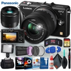 Panasonic Lumix G DMC-GF2K Digital Camera (BODY ONLY) + Panasonic Lumix G 25mm f/1.7 ASPH. Lens + Corel Program Kit + Camera Case + 32gb Memory Kit +