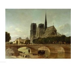 Posterazzi BALXKL60214LARGE Notre Dame Paris 1884 Poster Print by P.H. Benoist - 36 x 24 in. - Large