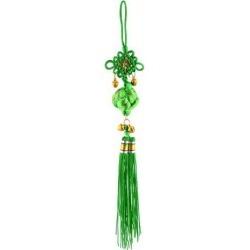 Room Decor Polyester Handmade Single Knot Tassel Crafting Chinese Knot