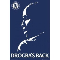 Posterazzi PSPPSA034008 Chelsea Fc Didier Drogbas Back Poster Print - 24 x 36 in.