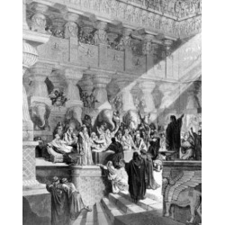 Posterazzi SAL9901103 The Handwriting on the Wall by Gustave Dore Print 1832-1883 Poster Print - 18 x 24 in.