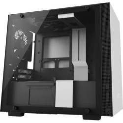 NZXT H200 - Mini-ITX PC Gaming Case - Tempered Glass Panel - All-Steel Construction - Enhanced Cable Management System - Water Cooling Ready.