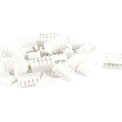 Unique Bargains 15PCS 5-Pin 2.54mm Pitch Straight Mounting Pin Headers White