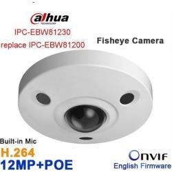 Dahua Original IPC-EBW81230 12MP Ultra HD Vandal-proof IR Network Fisheye Camera IP67 IK10 replace IPC-EBW81200 Panoramic Network Ip Camera PoE