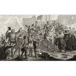 Posterazzi DPI1861233 Henri Iv 1553 to 1610 Enters Paris In 1594 From Histoire De France by Colart Published Circa 1840 Poster Print, 19 x 11