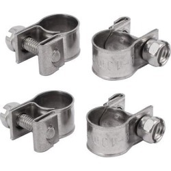 8mm-10mm 304 Stainless Steel Screw Mounted Adjustable Pipe Hose Clamps 4pcs