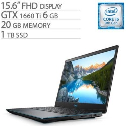 Dell G-Series 15 3590 15.6' FHD Gaming Laptop, Core i5-9300H, GTX 1660 Ti 6GB GDDR6, 20GB RAM, 1TB SSD, Quad-Core up to 4.10 GHz, RJ-45 LAN.