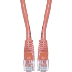Cable Wholesale Cat 5E Ethernet Crossover Cable, Snagless / Molded Boot, 5 Foot - Orange
