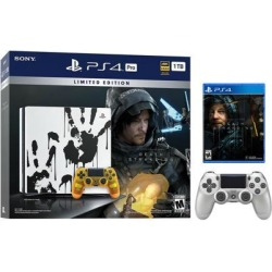 PlayStation 4 Pro 1TB Limited Death Stranding Edition 4K HDR Gaming Console Bundle With an Extra Silver DualShock 4 Wireless Controller