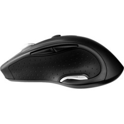 V7 Deluxe Wireless Optical Mouse - Black - Optical - Wireless - Radio Frequency - Black - USB - 1600 dpi - Scroll Wheel - 6 Button(s)