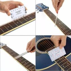 Guitar Repairing Tool Maintenance Cleaning Tool Kit String Organizer Action Ruler Gauge Measuring Tool for Guitar Ukulele