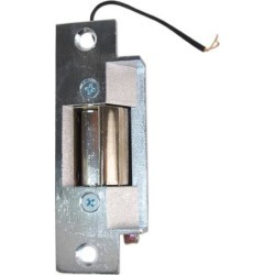 Lee Electric, 12C, Mortise Type ANSI Standards Chrome Electric Door Strike, 4-7/8', 16 Volt AC