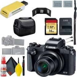 Canon PowerShot G1 X Mark III Digital Camera & 16GB MicroSD & Carrying Case & Battery