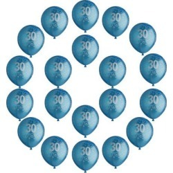 20pcs Birthday Balloon Party Anniversary Decoration Age Number 30th Blue