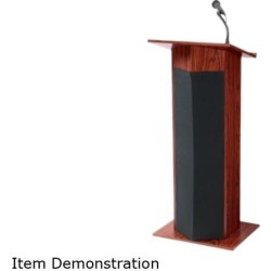 Oklahoma Sound 111PLS-MY-VA, Power Plus Sound Lectern Mahogany Finish