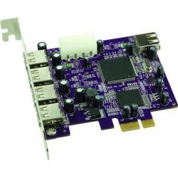 SoNNeT USB PCIe Card 4-Extended + 1-Int USB2 Ports Macintosh/Windows Model USB2-E