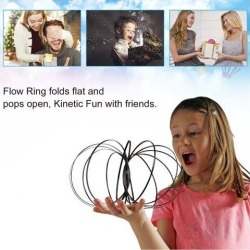 Funny Flow Rings Arm Training Toy Kinetic Spring Bracelet Magic Flow Toy Amazing Flow Ring Toys Intelligent Toy Fidget