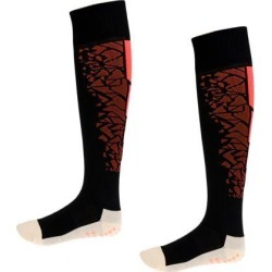 Breathable Football Soccer Socks Knee High Towel Long Socks Anti-slip Orange