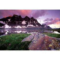 Posterazzi PDDCN01GJE0010 The Ramparts Viewed in Reflection Tanquin Valley Jasper National Park Alberta Canada Poster Print by Gavriel Jecan