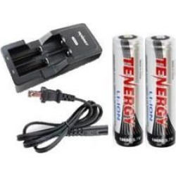 Universal Lithium Ion Battery Charger + 2-Pk 18650 3.7 Volt Lithium Ion Button Top Batteries with PCB Protection (2600 mAh)