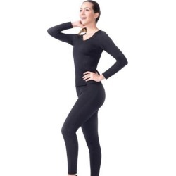 Women Slimming Suit Sweat Hot Neoprene T-shirt Body Shaper Weight Loss L