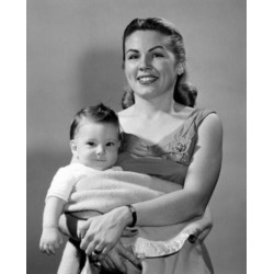 Posterazzi SAL2559818A Portrait of Young Mother Holding Baby Boy Poster Print - 18 x 24 in.