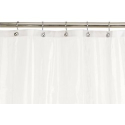 Carnation Home Fashions 10-Gauge PEVA 54 by 78-Inch Shower Curtain Liner, Sta.