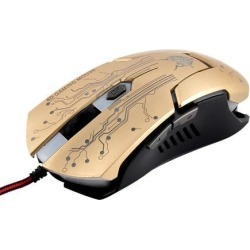 Unique Bargains USB LED Light 4000 DPI 6D Optical Wired Gaming Mice Gold Tone for Pro Gamer found on Bargain Bro Philippines from Newegg Business for $19.13