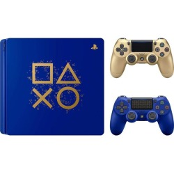 Playstation PS4 Days of Play Limited Edition Gaming Bundle: Days of Play PS4 Slim 1TB Console with Limited Edition Controller DualShock 4 Wireless and
