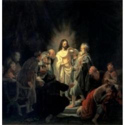 Posterazzi SAL261475 Disbelief of Apostle Thomas Rembrandt Van Rijn 1606-1669 Dutch Hermitage Museum St Petersburg Russia Print - 18 x 24 in.