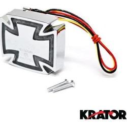 Krator Custom Templar Cross Maltese Taillight Brake Light For Harley Davidson Road Glide Custom Ultra