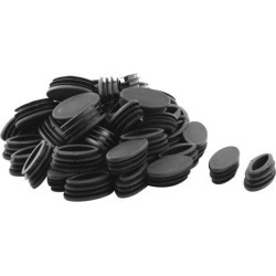 Unique Bargains 50 Pcs Antislip Plastic Oval 40mm x 20mm Chair Foot Cover Table Furniture Leg Protector Black found on Bargain Bro India from Newegg Canada for $13.23