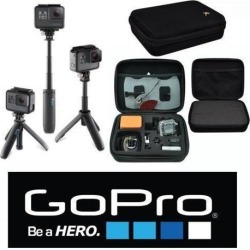 GoPro SHORTY MINI EXTENTION POLE AFTTM-001+ HARD CASE For All GoPro HERO6 HERO5