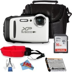 Fujifilm FinePix XP130 Digital Camera (White) Bundle