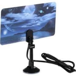 Indoor Digital TV Antenna 35dBi High Gain Full HD 1080p VHF / UHF DVB-T-Aerial F Male Connector for DTV / TV