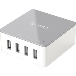 ORICO 30W 4-Port Family-Sized Desktop USB Charger with 2 Prong Power Cord for iPhone 6 6 Plus 5 5C 5S, iPad Air Mini, Galaxy S4 S5, Note 2 3, HTC One