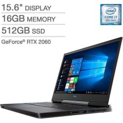 Dell G5 15 Gaming Laptop - 9th Gen Intel Core i7-9750H - GeForce RTX 2060 - 1080p - GeForce G5590-7797BLK-PUS Notebook PC Computer