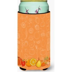 Fruits and Vegetables in Orange Tall Boy Beverage Insulator Hugger BB5131TBC
