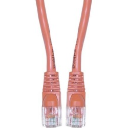 Cat5e Ethernet Patch Cable, Snagless/Molded Boot, 7 foot - Orange