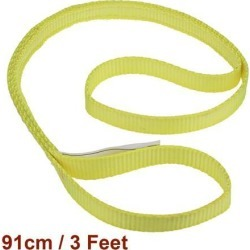 Unique Bargains 3 feet Lifting Straps 2200 lbs Lift Sling Tow Rope Eye to Eye Webbing Sling
