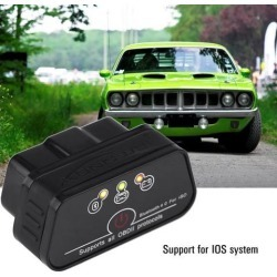 KW901 ELM327 V1.5 ODB2 OBDII Bluetooth 4.0 Car Diagnostic Code Scanner Reader Tool ELM 327 Code Reader Works for IOS/iPhone/iPad BT Adapter ELM327