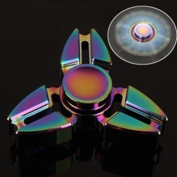 Rainbow EDC Tri Fidget Hand Spinner Focus Desk Toys Stocking Stuffer Kids/Adult