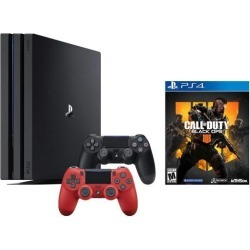 PlayStation 4 Call of Duty Black Ops IIII and 4K HDR PlayStation 4 Pro 1 TB Console with Extra Magma Red Dualshock 4 Wireless Controller (Split-Screen