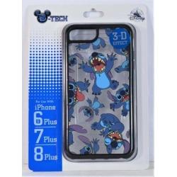Disney Exclusive Stitch 3D Effect Apple Iphone 6S/7/8 Plus Black Cellphone Case