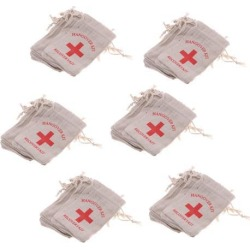 60pcs Hangover Kit Bags Bachelorette Party First Aid Bags Muslin Favors Bag