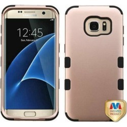For Samsung Galaxy S7 Edge G935 Rose Gold/Black TUFF Hybrid Phone Case Cover