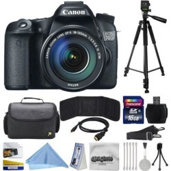 Canon EOS 70D Digital SLR Camera with 18-135mm STM Lens includes 16GB Memory + Large Case + Tripod + Card Reader + Card Wallet + HDMI Mini Cable +.