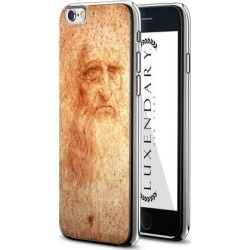 LUXENDARY LEONARDO DA VINCI PORTRAIT DESIGN CHROME SERIES CASE FOR IPHONE 6/6S PLUS