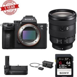 Sony Alpha a7 III Mirrorless Digital Camera with 24-105mm Lens and Vertical Grip